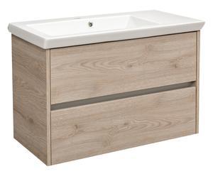 Base da bagno con lavabo e 2 cassetti Essenza - 84x55x43 cm