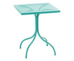Tavolino quadrato in acciaio Bistrot verde - 60x75x60 cm
