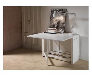 Tavolo chiudibile in legno Party bianco - 75x95x40 cm
