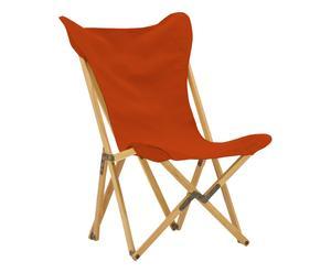 Sedia pieghevole in acero Tripolina arancione - 70x41x106 cm
