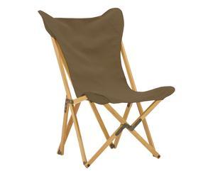 Sedia pieghevole in acero Tripolina marrone - 70x41x106 cm
