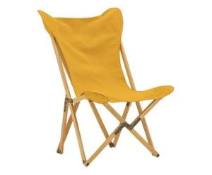 Sedia pieghevole in acero Tripolina giallo - 70x41x106 cm