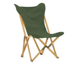 Sedia pieghevole in acero Tripolina verde scuro - 70x41x106 cm