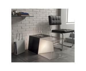 Tavolino luminoso in metacrilato Trapezio - 94x39x40 cm
