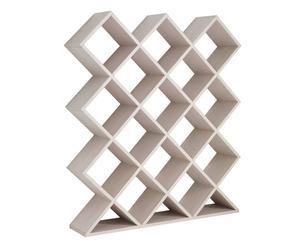 Libreria bifacciale in pannelli ecologici Forty Five - 141x163x30 cm