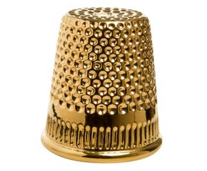 Vaso in ceramica inDITO oro - 21x18 cm