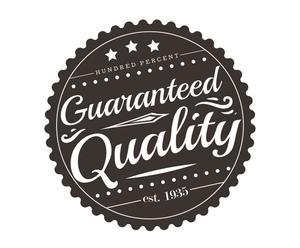 Adesivo in vinile Guaranteed quality marrone - 55x55 cm