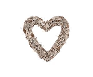 Composizione decorativa in pigna e betulla Heart - 45X45 cm