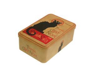 Scatola biscotti in stagno Chat Noir - 18x12 cm