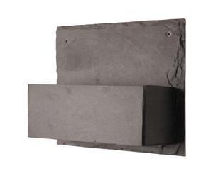 Portavasi da parete in ardesia Low - 30x11x25 cm