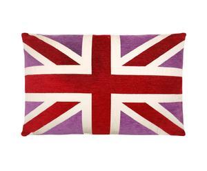 Kussen Union Jack Club, paars/rood