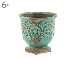 Set di 6 vasi in ceramica Lize - 11x12 cm