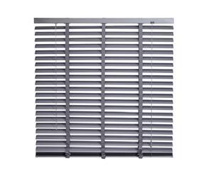 Veneziana in alluminio 50 mm + bande Lia grigio - larghezza 100 cm