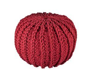 pouf in misto cotone Tricot - rosso