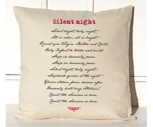 Federa in cotone Silent Night beige - 40x40 cm
