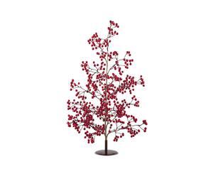 Albero di Natale in fil di ferro con bacche rosse - H 60 cm