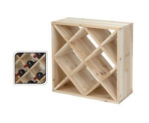 Cantinetta in legno portabottiglie di stile dalani e ora westwing - Mattoni portabottiglie ...