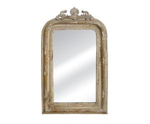 specchio da parete in metallo e vetro Barocco beige - 44x3x74 cm