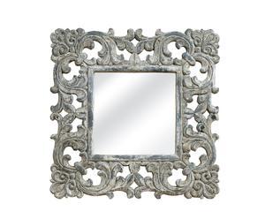 specchio da parete in gesso e vetro Arles grigio - 58x3x58cm