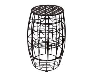 Barile portabottiglie in ferro - 80x47 cm
