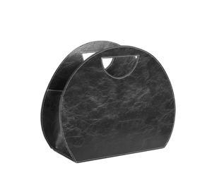 Portariviste in ecopelle nera Anna - 46x39x21 cm