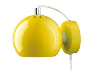 Applique in metallo giallo shiny ball - 12x17 cm