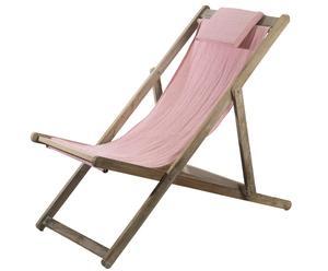 Sedia a sdraio in legno SPRING - 131X58 cm