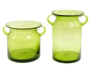 Set van 2 glazen potten Forest