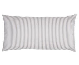 Kussensloop Gestreept, beige/wit, 40 x 80 cm