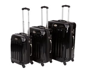 3-delige trolleyset Black