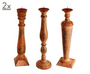 Set van 6 kaarsenstandaards MAESTRO