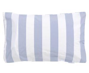 Kinderkussensloop Junior Stripes, blauw/wit, 40 x 60