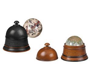 Set van decoratieve globes Day and Night, 4-delig