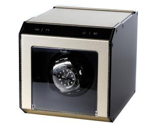 Horloge-opwinder Ferrum Cube voor 1 horloge, champagne-metallic