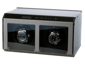 Horloge-opwinder Ferrum Cube voor 2 horloges, grijs-metallic