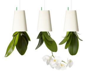 Set van 3 bloempotten Sky Planter, kunststof, klein, wit