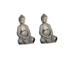 Sitzende Buddhas SHINGO, 2 Stück