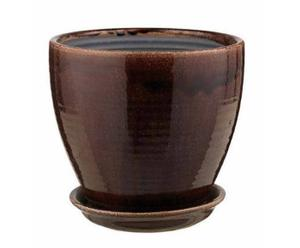 Bloempot MAX, 2 stuks, bruin, H 22 cm