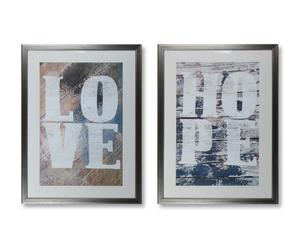 Kunstdruk-Set Urban Typography, 2-delig, je 51 x 71 cm