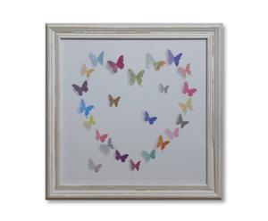 Kunstprint Flutterbyes, 30 x 30 cm
