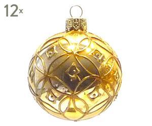 Kerstballen Guzzo, 12 stuks, Diameter 6 cm