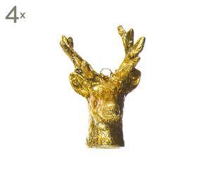 Kerstversiering Cervo, om op te hangen, 4 stuks