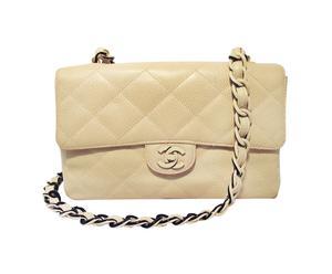Chanel handtas Flap Bag, beige