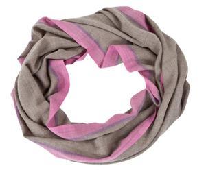 Handgeweven ronde sjaal van kasjmier PUSHPA, rose, 160 x 70 cm