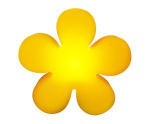 Lamp SHINING FLOWER, 60 cm, geel