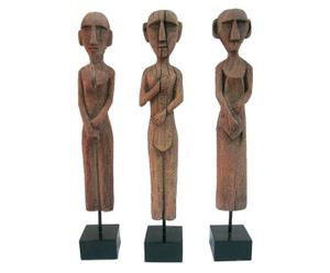 Set van 3 sculpturen AFRICAN