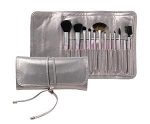 12-delige make-up kwastenset DIAMANT, lila/metallic