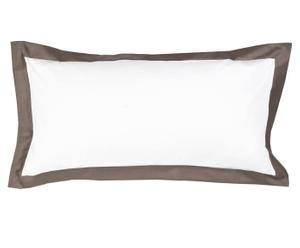 Kussensloop Habour, wit/taupe, 40 x 80 cm