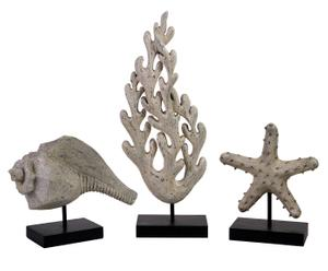 Decoratieve figurenset Seaside, 3-delig