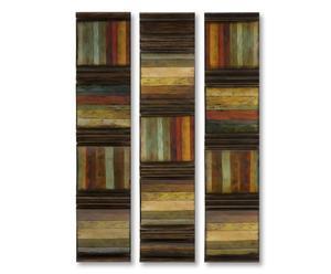 Decoratieve wandset Rustique, 3-delig